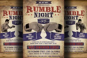 Vintage Boxing Flyer/Poster Template