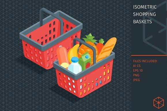 Isometric Shopping Basket