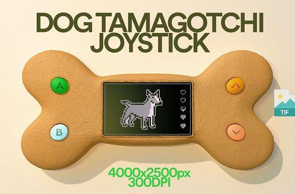 3D Illustration Tamagotchi Joystick