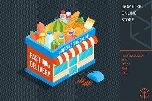 Isometric online store