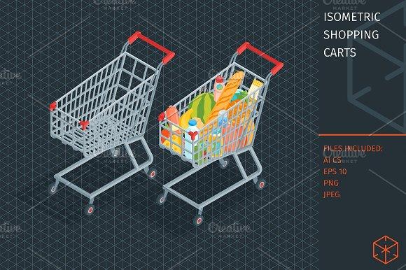 Isometric Shopping Carts