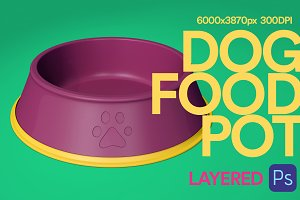 3d Illustration Dog Food Pot