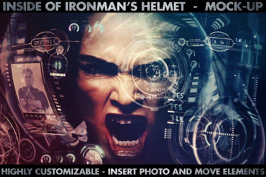 Inside Ironman's Mask/ Hi-Res Mockup ~ Mockup Templates ~ Creative