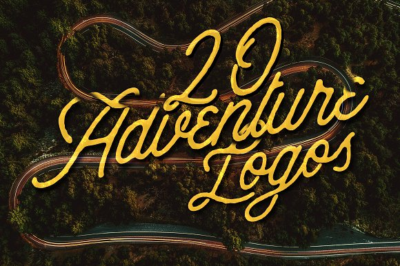 20 Adventure Logos Set