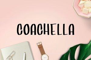 Coachella - Handwritten Brush Font