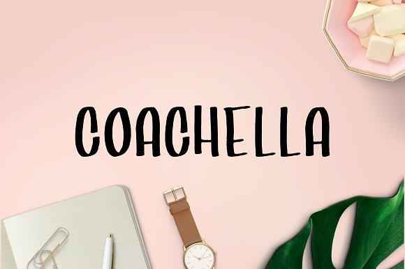 Coachella Handwritten Brush Font