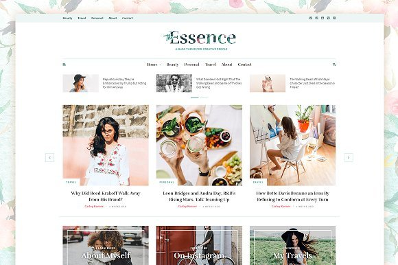 The Essence Responsive Blog Theme