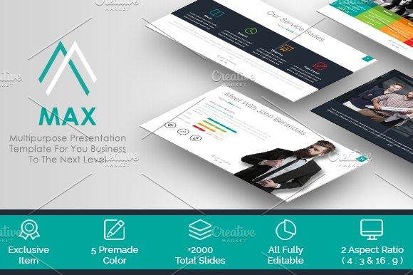 MAX Creative Presentation Template