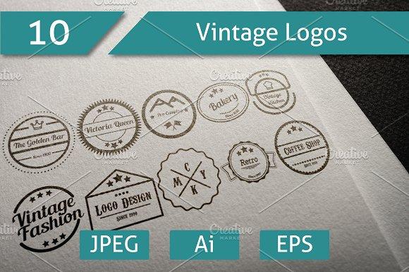 10 Vintage Logos Collection