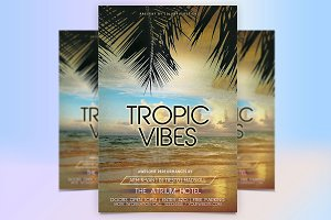 Tropical Vibes Flyer Template