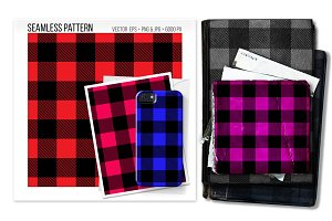 Seamless buffalo plaid pattern.