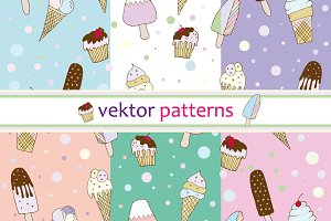 patterns vector ice cream