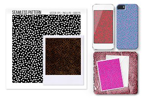 Seamless polka dot vector pattern.