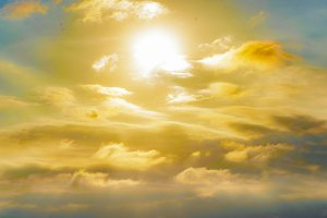 Cloudscape Sunset Background