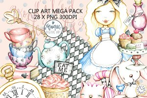 Tea Party Clipart Watercolor