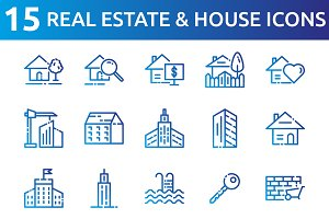 Real Estate and House Icons