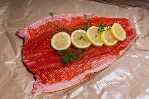 Steelhead trout fresh from the market