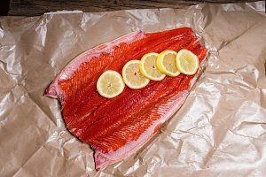 Steelhead trout fresh from the market