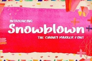 Snowblown Font