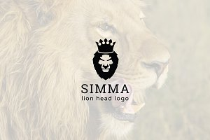 Simma : Negative Space Lion Logo