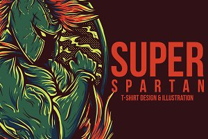 Super Spartan Illustration