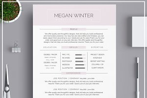 Resume Template/ Cover Letter Purple