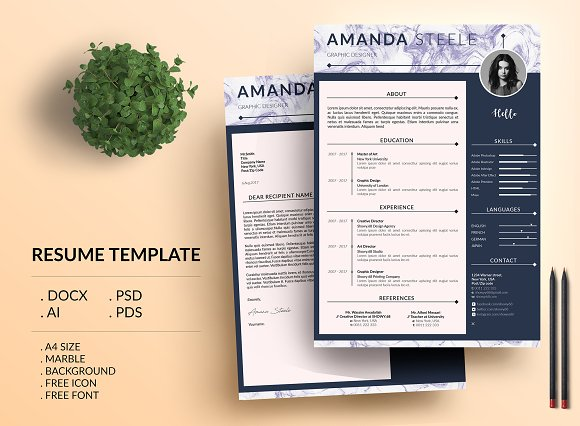 Marble Simple CV Resume Template N