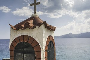 Church in Greece sea