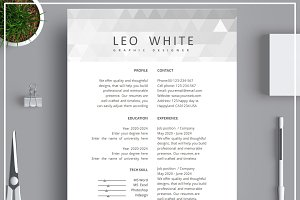 Resume/ CV Template/ Cover Letter