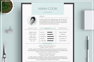 Resume Template/ CV Template- Blue
