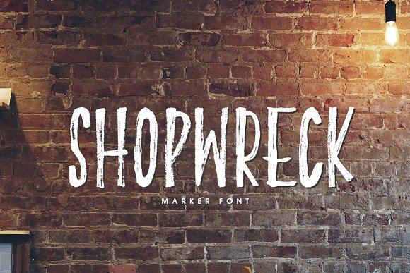 Shopwreck Marker Font