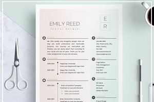 Resume/ CV Template- Soft Pastel
