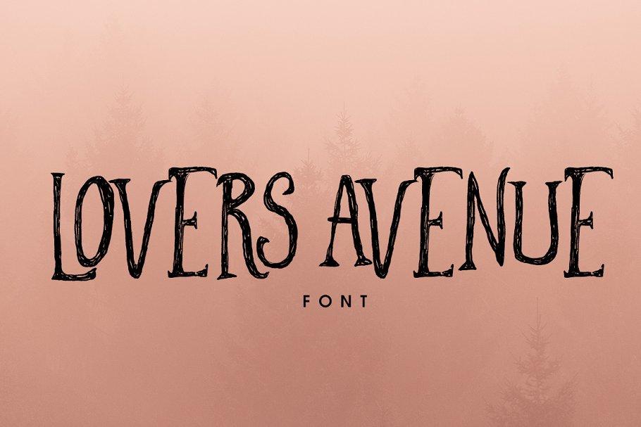 Lovers Avenue Font