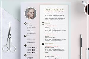 Resume Template/ Cover Letter Pastel