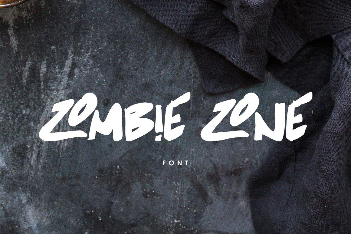 Zombie zone font display fonts creative market toneelgroepblik Choice Image