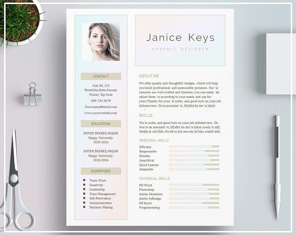 Resume CV Template Cover Letter