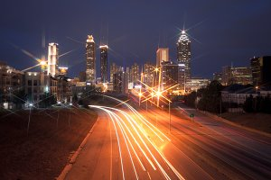 Atlanta city night skyline