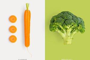Carrot & broccoli