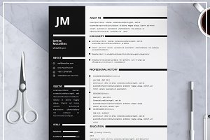 Resume Template/ Cover Letter- Black