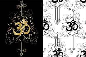 Om and Lotus Tattoo