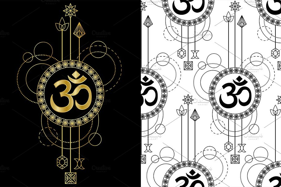 6c1627d6a Mantra Om Tattoo ~ Graphic Objects ~ Creative Market