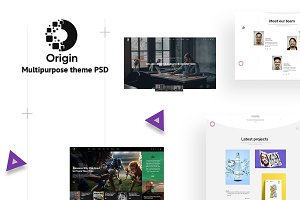 Orgin - Minimal and Creative PSD
