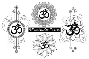 Mantra Om Tattoo Set