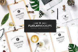 10 Flat Lay Mockups