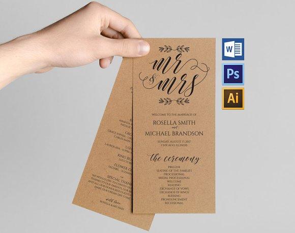 Wedding Program WPC176