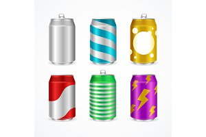 Realistic Aluminum Cans Color