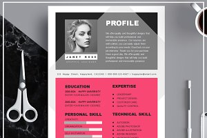 Resume Template/ Cover Letter / Icon