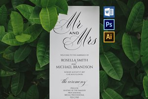 Wedding Program WPC177