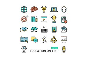 Symbol of Education Online Icons