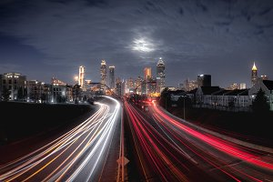 Night skyline of Atlanta